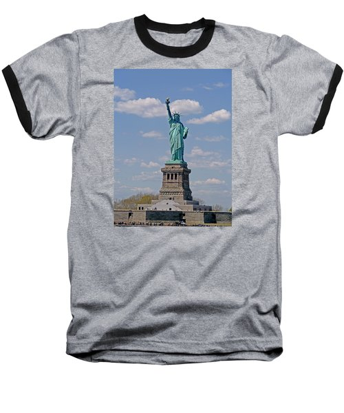Baseball T-Shirt featuring the photograph Lady Liberty by Helen Haw