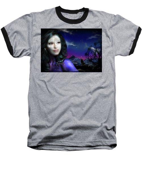 Lady Moon Baseball T-Shirt