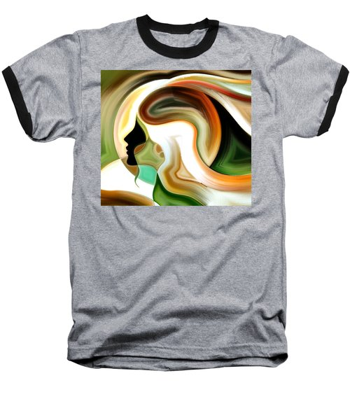 Lady Of Color Baseball T-Shirt by Karen Showell