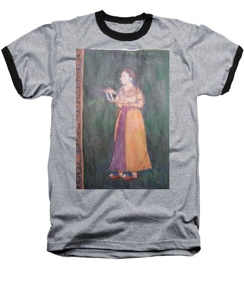 Lady Of The Court Baseball T-Shirt by Vikram Singh