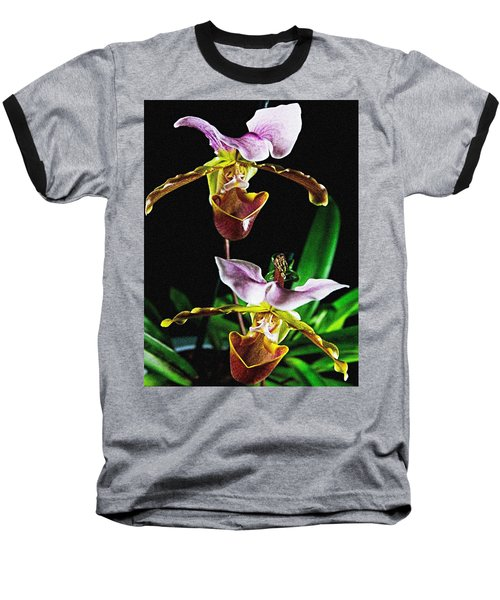 Lady Slipper Orchid Baseball T-Shirt