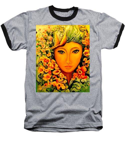 Lady Sring Baseball T-Shirt by Yolanda Rodriguez