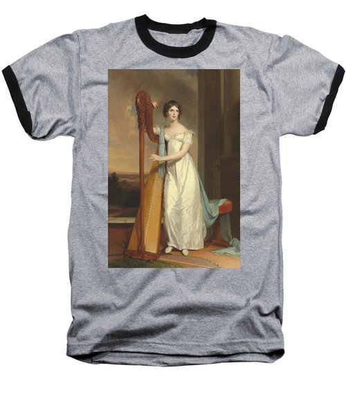 Lady With A Harp Baseball T-Shirt