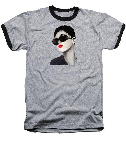 Lady With Sunglasses Baseball T-Shirt by Birgit Jentsch