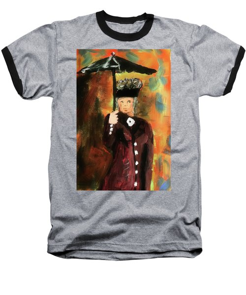 Lady With Umbrella Baseball T-Shirt