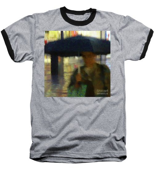 Baseball T-Shirt featuring the photograph Lady With Umbrella by LemonArt Photography