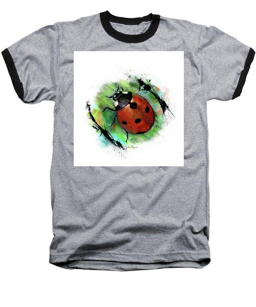 Ladybug Drawing Baseball T-Shirt