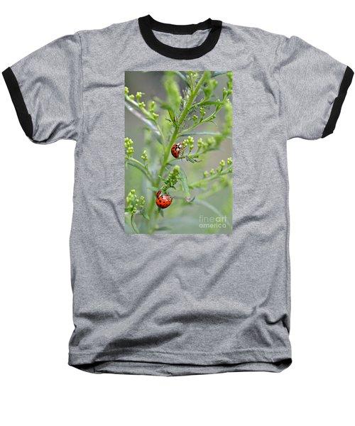 Baseball T-Shirt featuring the photograph Ladybug Ladybug... by Lila Fisher-Wenzel