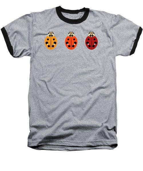 Ladybug Trio Horizontal Baseball T-Shirt