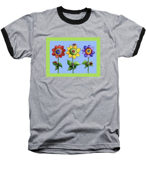 Ladybugs In The Garden Baseball T-Shirt by Shelley Wallace Ylst