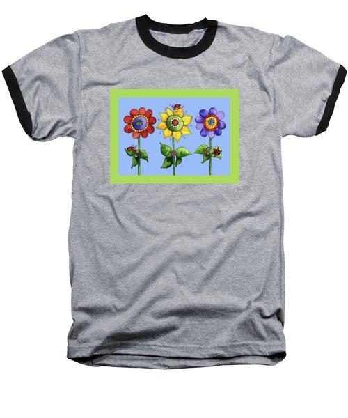 Ladybugs In The Garden Baseball T-Shirt