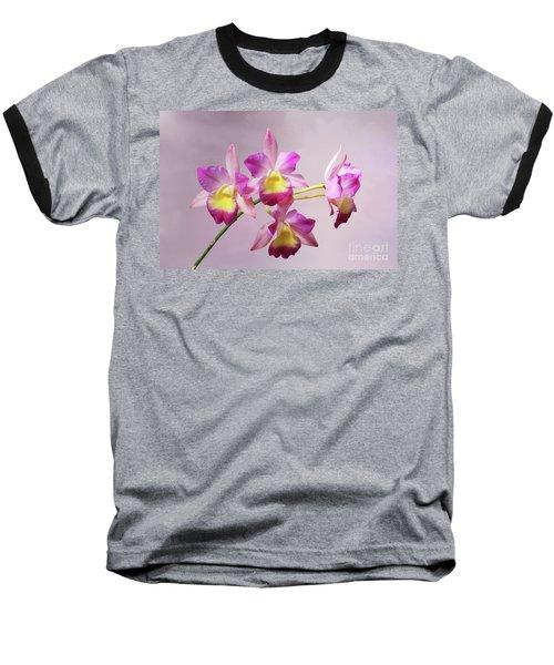 Laeliocatonia Hybrid Orchids V2 Baseball T-Shirt