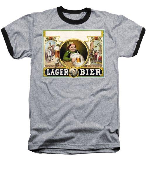 Lager Beer Stock Advertising Poster 1879 Baseball T-Shirt