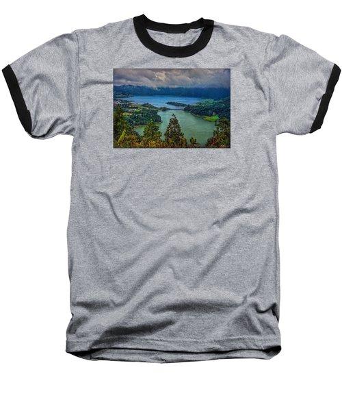 Lagoa Verde E Lagoa Azul Baseball T-Shirt