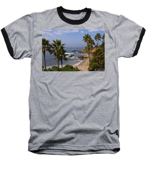 Laguna Beach Coastline Baseball T-Shirt by Lou Ford
