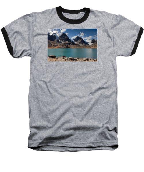 Laguna Chiar Khota In Condoriri Mountains Baseball T-Shirt by Aivar Mikko