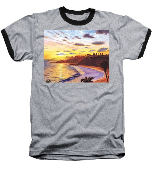 Laguna Village Sunset Baseball T-Shirt