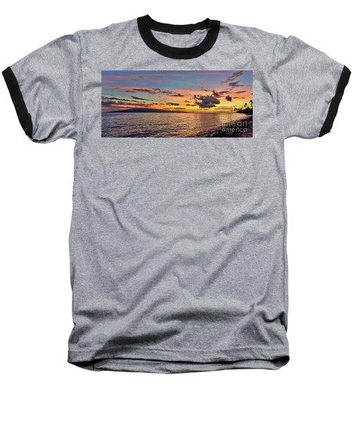 Lahaina Sunset Panorama Baseball T-Shirt