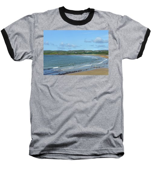 Baseball T-Shirt featuring the photograph Lahinch Beach by Terence Davis