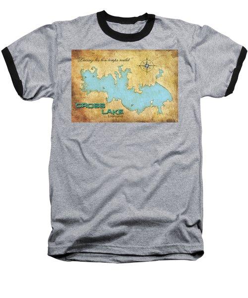 Baseball T-Shirt featuring the digital art Laissez Les Bon Temps Roulet - Cross Lake, La by Greg Sharpe