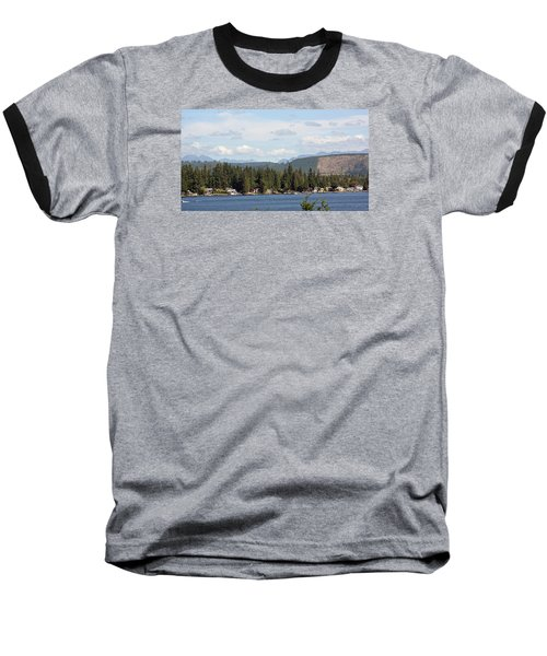 Lake And Mountains Baseball T-Shirt