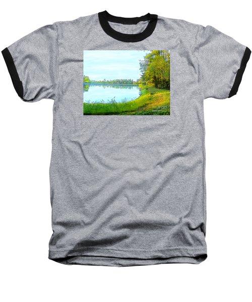 Lake And Woods Baseball T-Shirt by Craig Walters