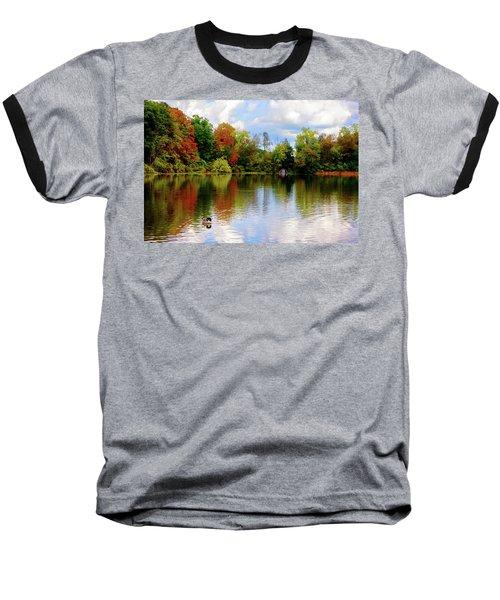 Lake At Forest Park Baseball T-Shirt