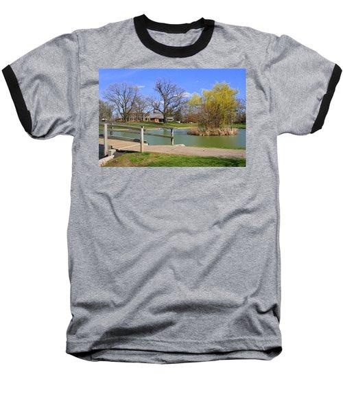 Lake At Schiller Park Baseball T-Shirt