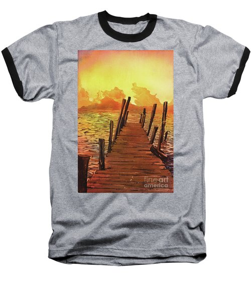 Lake Atitlan- Guatemala Baseball T-Shirt by Ryan Fox