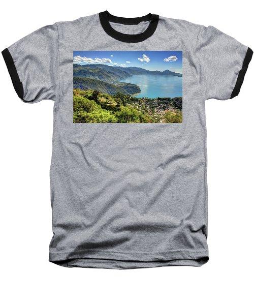 Lake Atitlan Baseball T-Shirt by John Loreaux