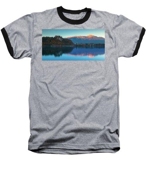 Lake Bled Panorama Baseball T-Shirt