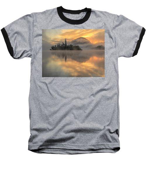 Lake Bled Sunrise Slovenia Baseball T-Shirt