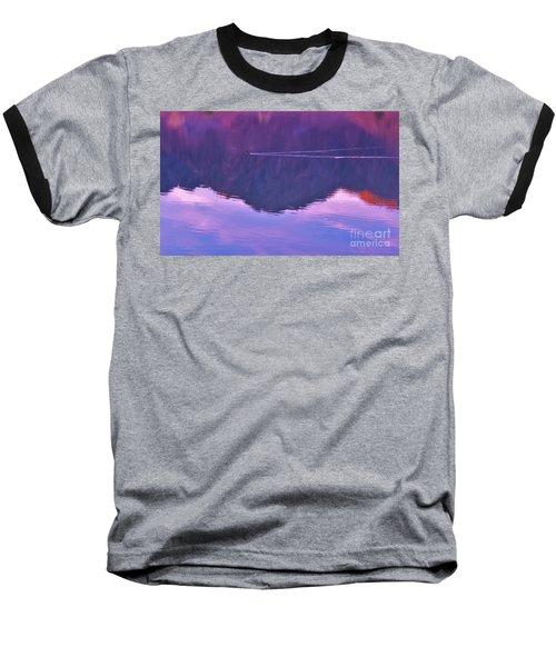 Lake Cahuilla Reflection Baseball T-Shirt by Michele Penner