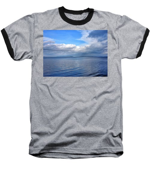 Baseball T-Shirt featuring the photograph Lake Champlain From New York by Brendan Reals