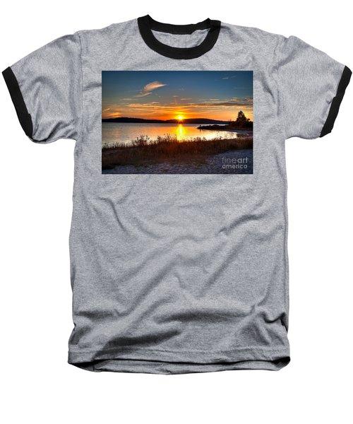 Lake Charlevoix Sunset Baseball T-Shirt