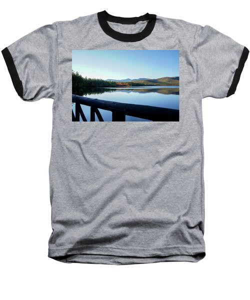 Baseball T-Shirt featuring the photograph Lake Chocorua Autumn by Nancy De Flon