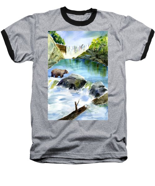 Lake Clementine Falls Bear Baseball T-Shirt