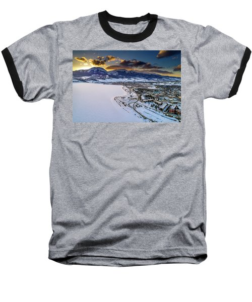 Lake Dillon Sunset Baseball T-Shirt by Sebastian Musial