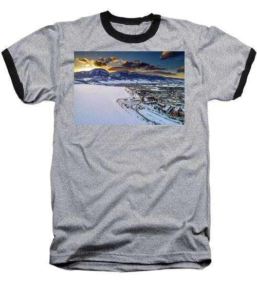 Baseball T-Shirt featuring the photograph Lake Dillon Sunset by Sebastian Musial