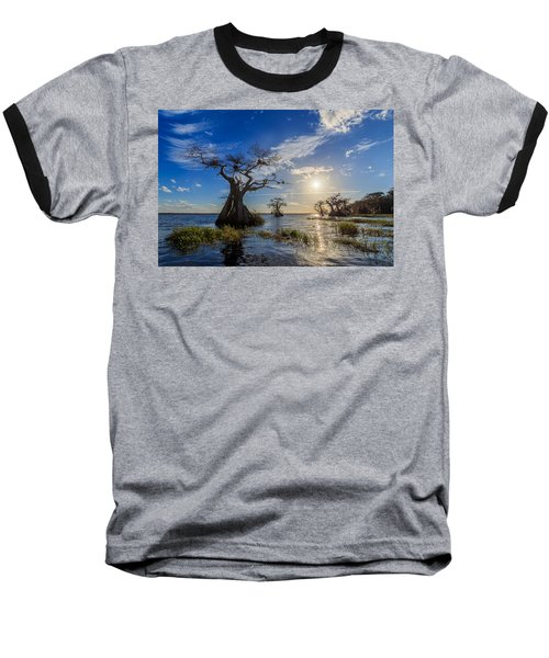 Lake Disston Cypress Paradise Baseball T-Shirt