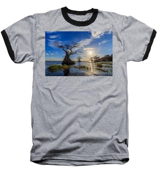 Lake Disston Cypress Paradise Baseball T-Shirt