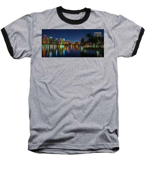 Lake Eola Orlando Baseball T-Shirt