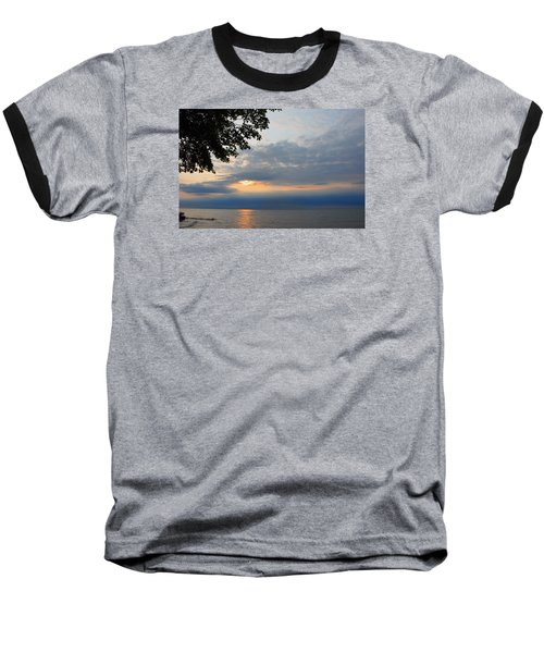 Lake Erie Sunset Baseball T-Shirt