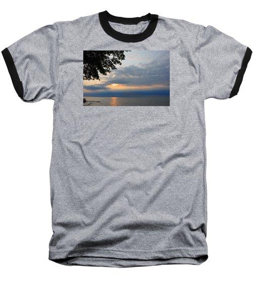 Lake Erie Sunset Baseball T-Shirt