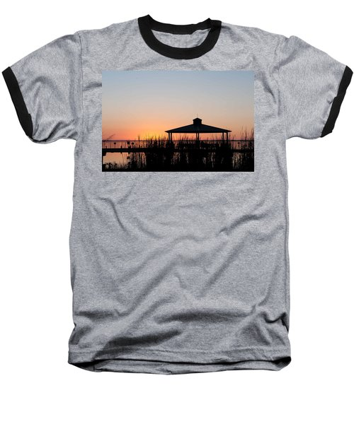 Lake Eustis Sunset Baseball T-Shirt
