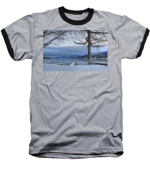 Lake George In The Winter Baseball T-Shirt by Sharon Batdorf