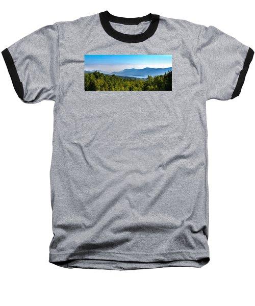 Lake George, Ny And The Adirondack Mountains Baseball T-Shirt by Brian Caldwell