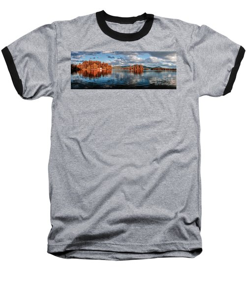 Lake George Panorama  Baseball T-Shirt