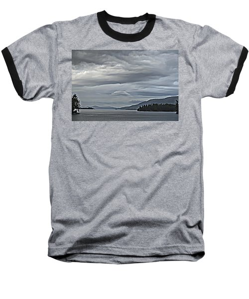 Lake George Rain And Clouds Baseball T-Shirt