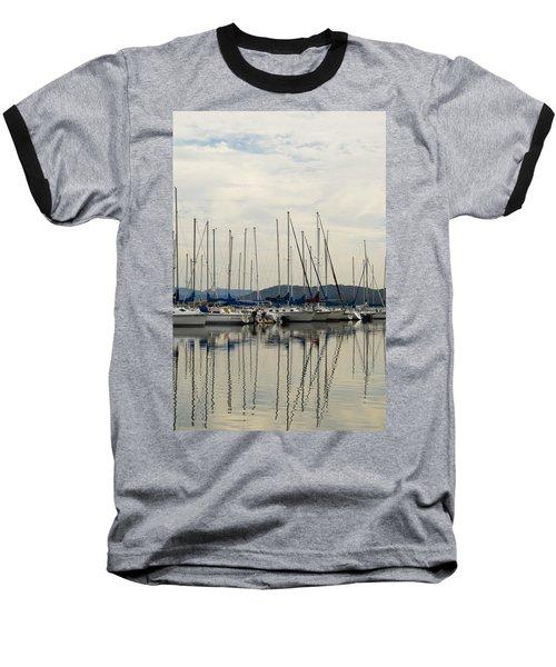 Lake Guntersville Alabama Sailboat Harbor Baseball T-Shirt by Kathy Clark